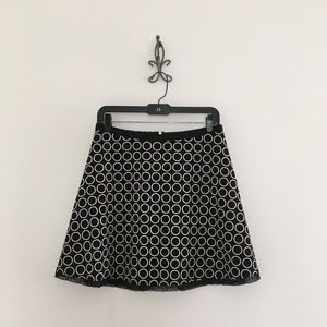 The Limited Black White Printed A-Line Skirt Sz 4